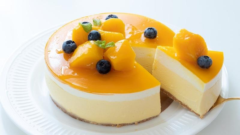 マンゴーレアチーズケーキの作り方 No Bake Mango Cheesecake|HidaMari Cooking