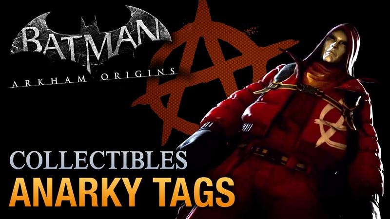 Batman Arkham Origins - Anarky Tags [Voice of the People Achievement Trophy]