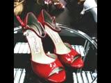 Красные лакированные туфельки TANGUERA!