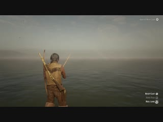 The last thing you wanna see while fishing. Red Dead Online