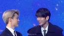 190105 Jimin Ong Seongwu interaction in Golden Disk Award D1