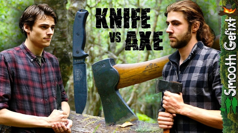AXE vs KNIFE Battle for the Ultimate Cutting Tool