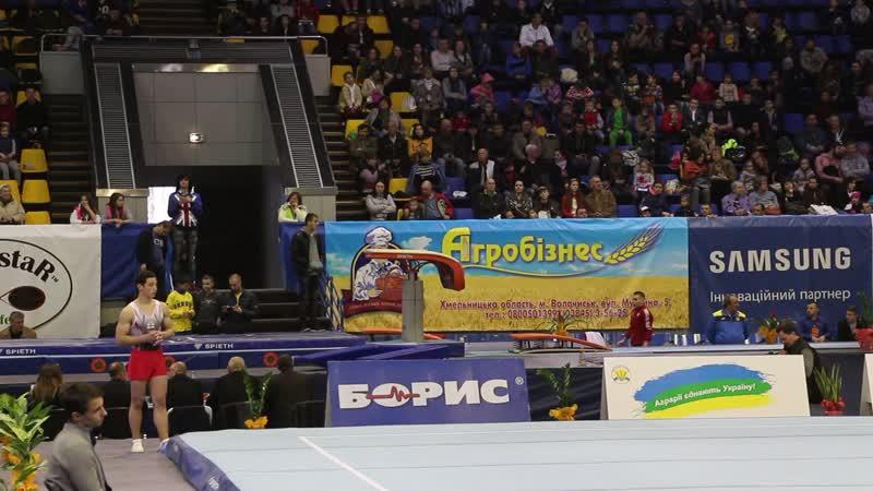 16.04.2016. Ukraine Nation Cup. СГ. Опорный прыжок 1. Максим Иванов