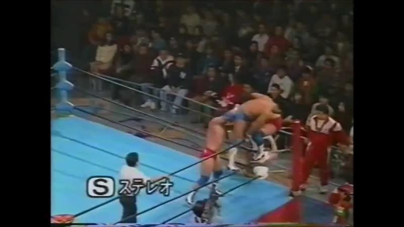 1995.11.29 - Jun Akiyama/Takao Omori vs. Dan Kroffat/Doug Furnas [FINISH]