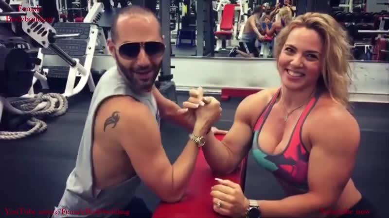 Dana Shemesh - Hot FBB Mixed Arm Wrestling and Biceps Workout
