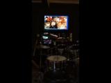 Урок игры на барабанах по скайпу | Ученик из Казахстана снял на телефон
