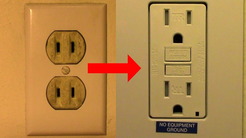Replace Your Old Two Prong Receptacle with a GFCI Receptacle per 2014 NEC