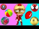 Wrong Super Heroes Soccer Ball Heads Puzzles Spiderman Iron-Man PJ Masks Videos for Kids