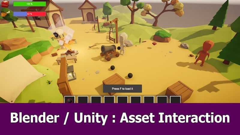 Blender Unity Game Asset Character Interaction