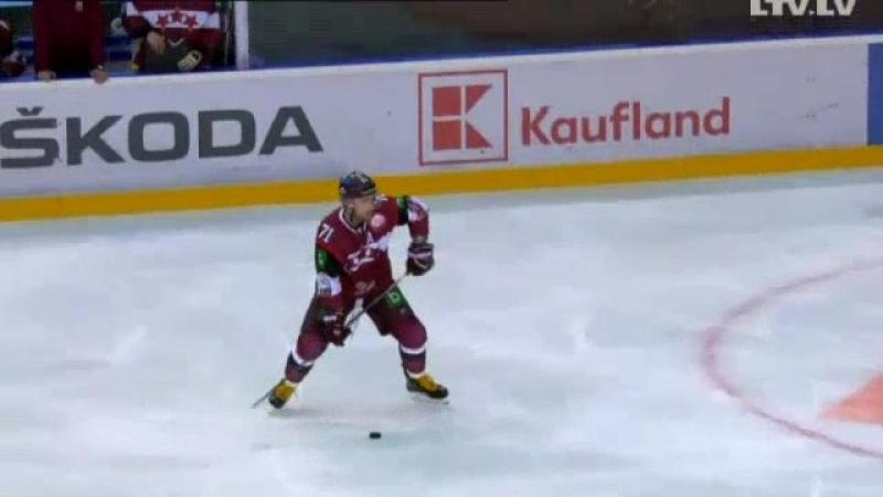 TIEŠRAIDE Latvijas hokejisti pārbaudes spēlē pret Slovākiju cīnās par revanšu Raksts.mp4