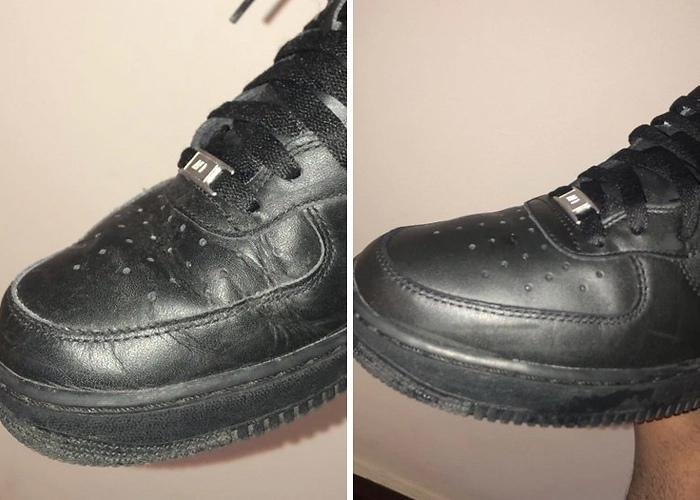 Девушка рассказала о простом способе, который поможет разгладить складки на обуви.