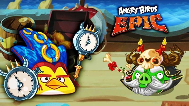ЗЛЫЕ ПТИЧКИ против СВИНСКОЙ НЕЖИТИ! Купил Новые Шляпы для Птичек | Angry Birds Epic