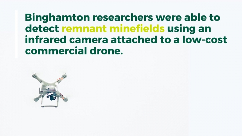 """Drones could be used to detect dangerous """"butterfly"""" landmines in post-conflict regions"""