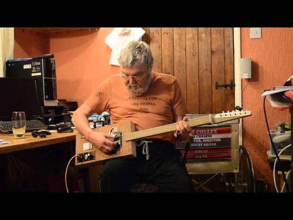 Jimbos 3x2 string cigar box guitar