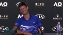 DjokerNole makes fun of Journalist in Press Conference | Australian Open 2019