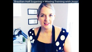 Esthetician Training Full Brazilian | Half Sugaring Half Waxing Brazilian Wax