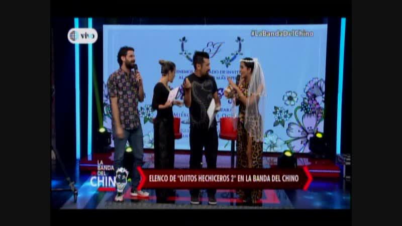 Entrevista a Melissa Paredes y Sebastian Monteghirfo en La Banda