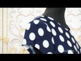 Платье Модель П 2095 Темно-синее в горох с красным поясом (48-58) 2080р СОНЛАЙН Интернет-магазин