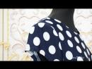 Платье Модель П 2095 Темно-синее в горох с красным поясом (48-58) 2080р [СОНЛАЙН Интернет-магазин]