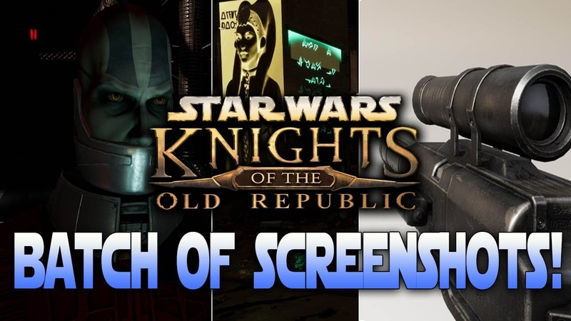 Apeirons Star Wars Knights Of The Old Republic - Blaster Pistol Model, Malak Close-Up, MORE!