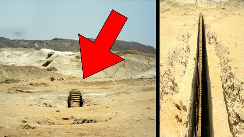Найдена таинственная лестница в плато Гизы