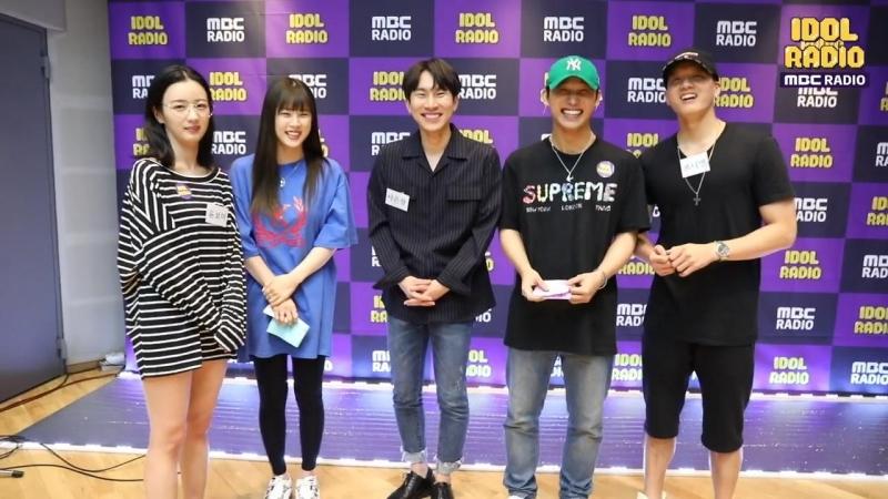 BACKSTAGE 25 07 2018 Ынкван Хёншик Пыниэль Чорон и Боми A pink @ MBC 'Idol Radio'