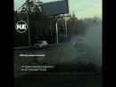 На трассе произошла жесткая авария с участием четырех машин