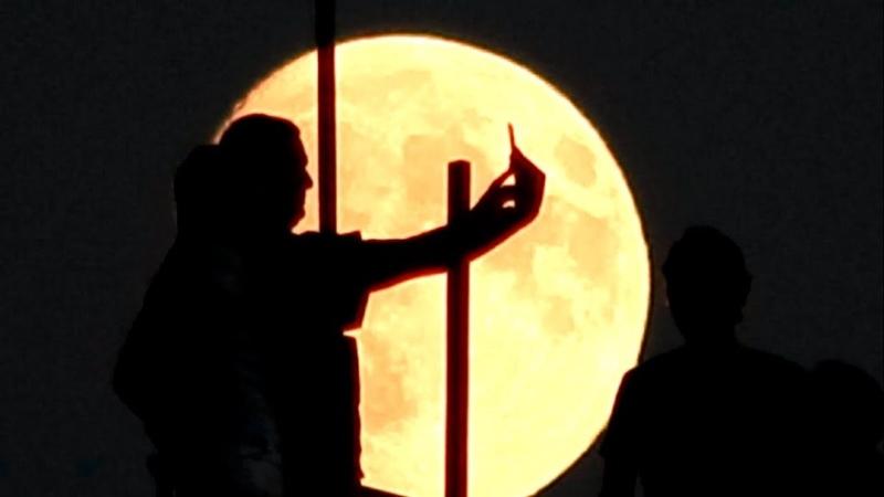 Симеиз 22 Сентября 2018 Крым Лунный фон.Скала Дива