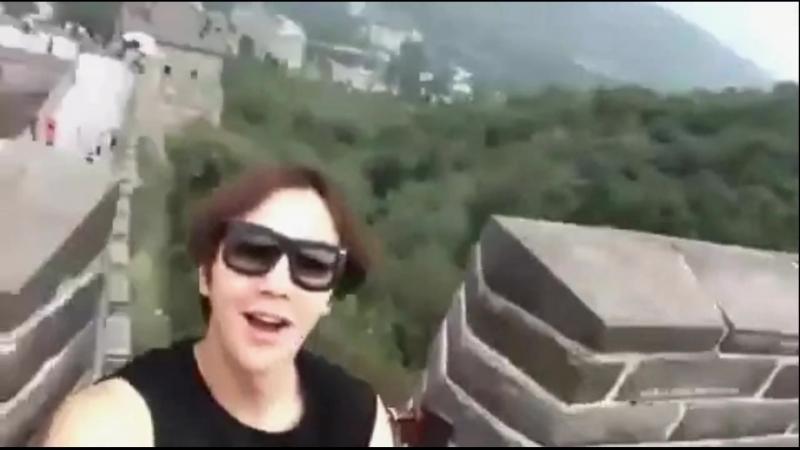 [29.08.2014] Jang Keun Suk on the 'Great Wall of China' (mix)