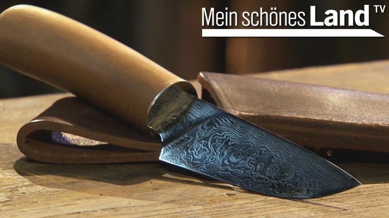 Damaszener Messer schmieden Besuch beim Messerschmied