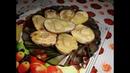 Картофель запечённый с салом