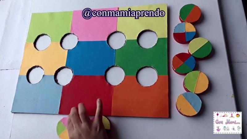 Atención y concentración Ubicamos las tapas de acuerdo a los colores.
