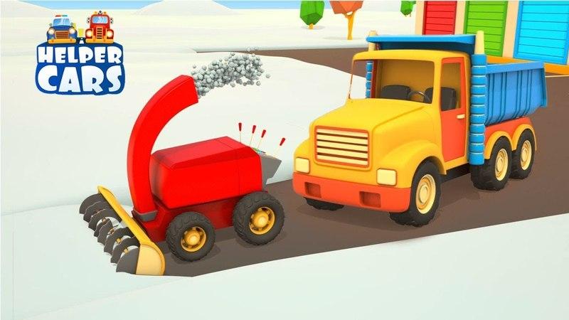 Helper cars: I mezzi di soccorso per la neve al parco giochi!