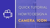 DAY 2 : How To Design A Camera Icon in Illustrator | Icon Design Week