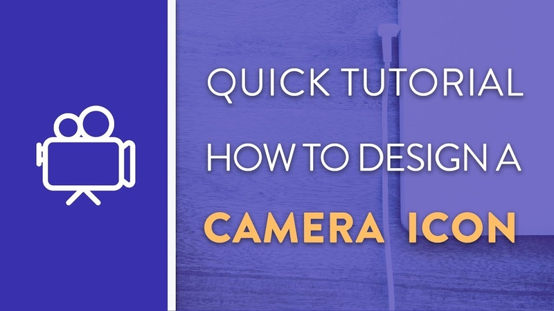 DAY 2 : How To Design A Camera Icon in Illustrator   Icon Design Week