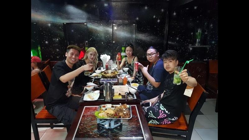 "Ресторан COSMOS в Нячанге, BBQ HOT POT, LAU. 餐厅""COSMOS""越南芽庄市。 烧烤和火锅,汤刘肉和海鲜"