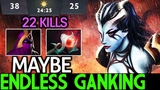 Maybe Queen of Pain Pro Player Endless Ganking 22 Kills in 24 Min 7.20 Dota 2