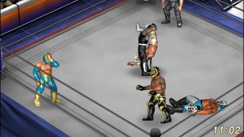 Fenix VS Rey Mysterio VS Sin Cara VS Pentagon Jr. VS Caristico. 5 Way Match