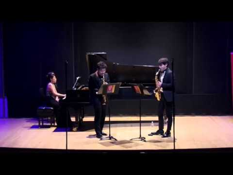 Jean-Baptiste Singelée Duo Concertant for soprano saxophone, alto saxophone, and piano, Op.55