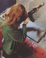 India Eisley on Instagram Getting used to the #ak47 for the new job x @thedoughertygangfilm #leegrace #louisiana