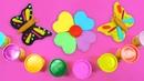 Las mariposas de play doh. Plastilina para niños. Vídeo infantil.