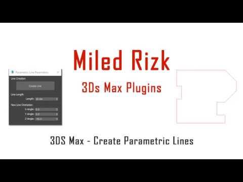 3DS Max - 2D - Create Parametric Lines - Plugin