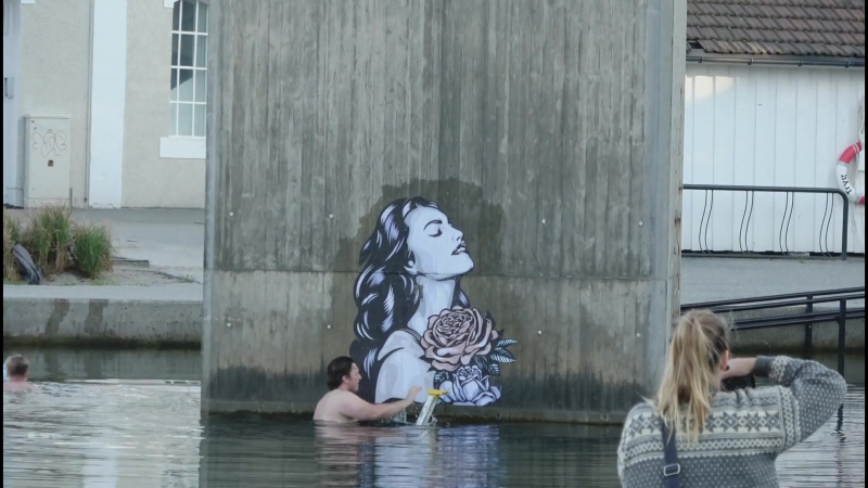 Ener Konings NO dives in to Nuart Festival 2018…literally NW