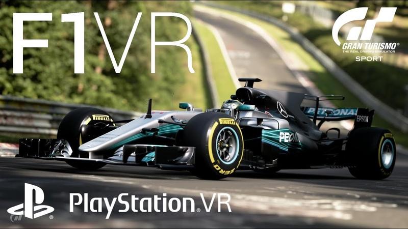 Lewis Hamilton's F1 Mercedes-AMG 2017 in Gran Turismo Sport on Playstation VR