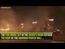 Notre Dame in Paris die Al Aqsa Mochee in Jerusalem brennen gleichzeitig