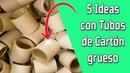 5 Ideas con Tubos de Cartón grueso Reciclaje Ecobrisa
