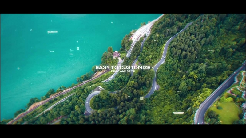 Futuristic parallax slideshow after effects