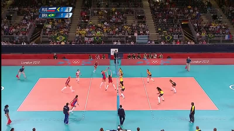Brazil vs Russian Fed. - Women039;s Volleyball Quarterfinal _ London 2012