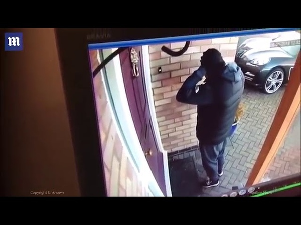 2019 English Manc Chavs Thugs break into houses in Little Hulton in Salford England