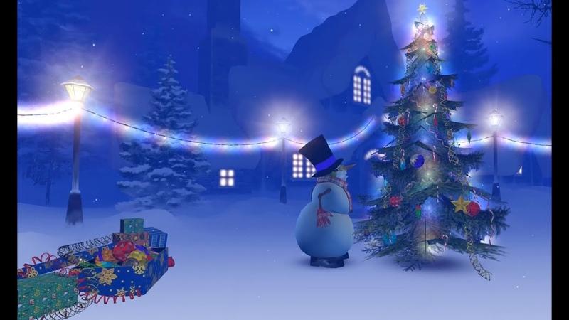 Новогодние футажи СНЕГОВИК И ЁЛКА New year and Christmas